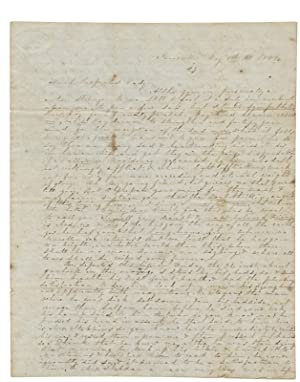 [1844 Autograph Letter Signed by Mrs. M. A. Stebbins of Janesville, Wisconsin Territory to Emily ...
