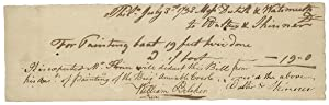 1793 Philadelphia Document Signed for Painting the Brig 'Amiable Creole.'