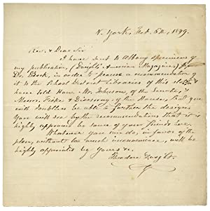 1849 Autograph Letter Signed by Theodore Dwight seeking recommendations for his Dwight's American...
