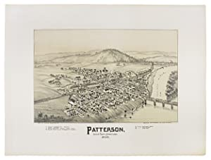 [1895 Bird's-Eye Tinted Lithographic View of Patterson Juniata County, Pennsylvania]