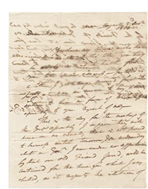 1806 Autograph Letter Signed from John Milledge former Governor of Georgia to Charles Harris, in ...