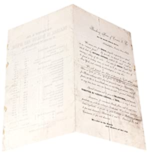 Banking House of Cronise & Co.,.1857. We annex rates for SPECIE [opening lines of circular]