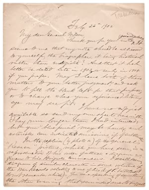 [1904 Autograph Letter Signed by Henry E. Tremain, Georgian Civil War Medal of Honor Recipient fo...