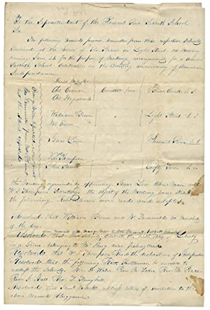 Manuscript Resolutions to Organize a Fourth of July Procession ca. 1843, in Columbia County, Penn...