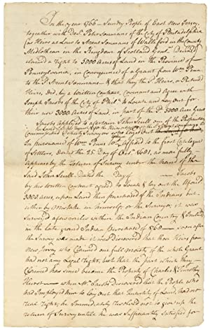[18th Century Legal Memorandum concerning a Disputed