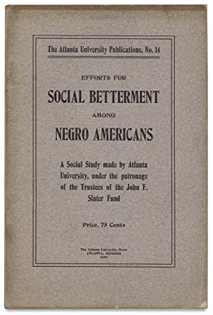 Efforts for Social Social Betterment among Negro Americans