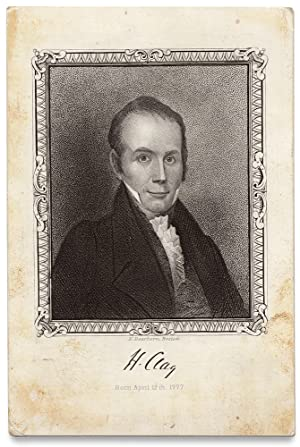[Henry Clay Souvenir Card Engraved by Nathaniel Dearborn]
