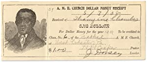 A.M.E. Church Dollar Money Receipt