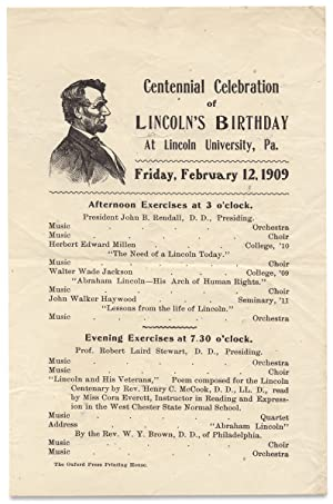 Centennial Celebration of Lincoln's Birthday at Lincoln University, Pa. February 12, 1909. [openi...