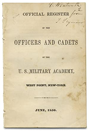 Official Register of the Officers and Cadets of the U.S. Military Academy, West Point, New-York. ...
