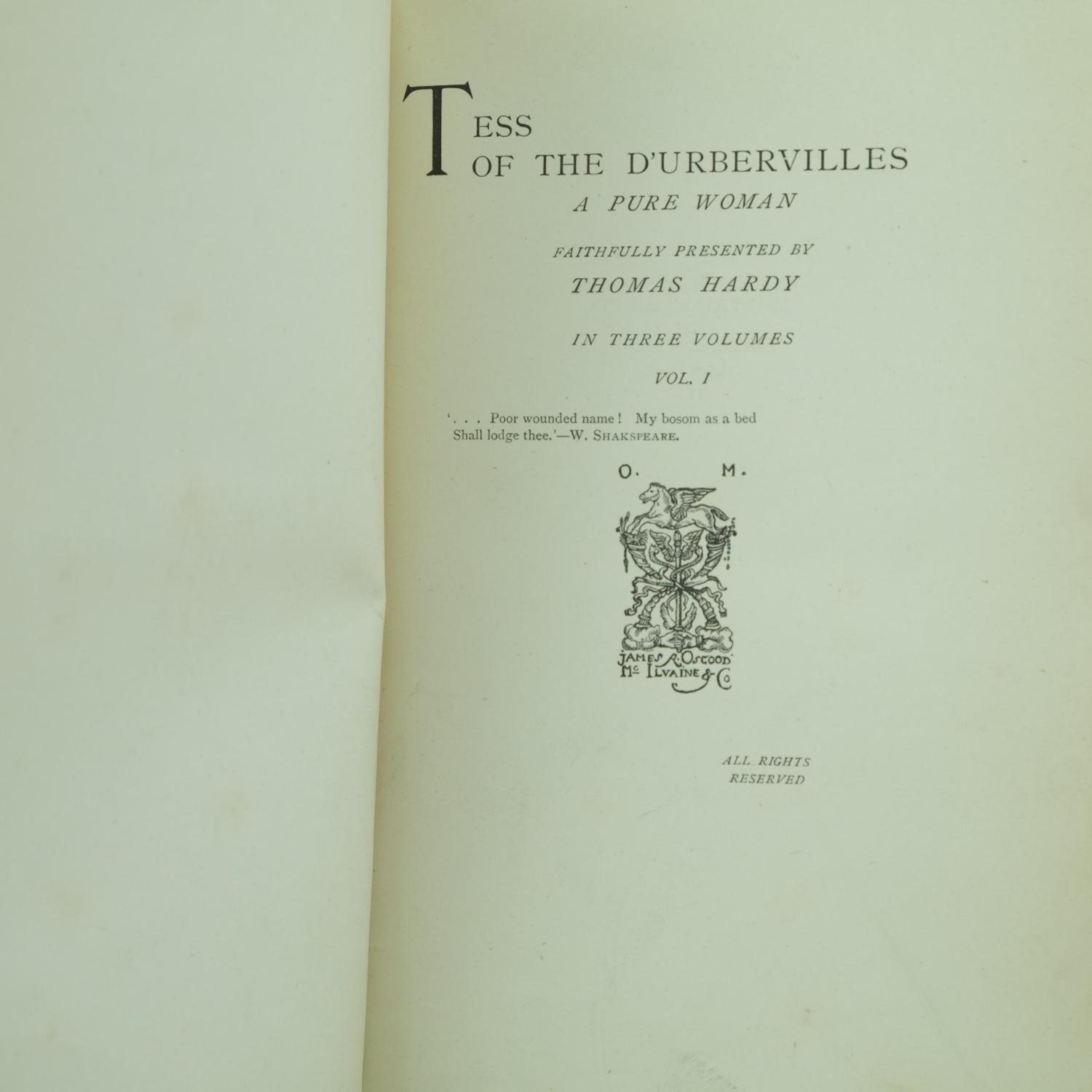 is tess a pure woman Tess of the d'urbervilles has 207,133 ratings and 7,260 reviews  a pure woman faithfully presented,  what could a woman of tess's time and situation hope for.