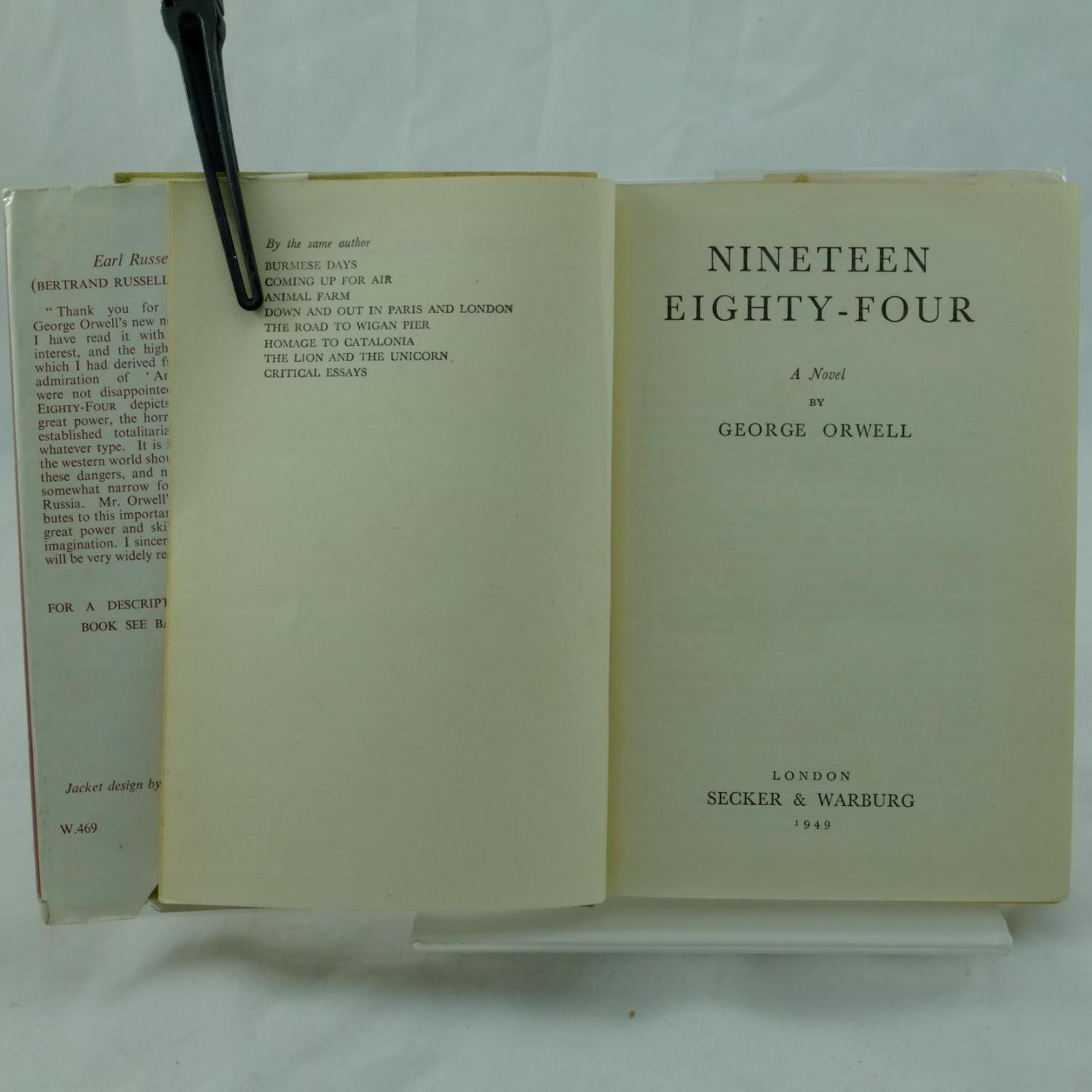 nineteen eighty four Find great deals on ebay for nineteen eighty four in books on antiquarian and collectibles shop with confidence.
