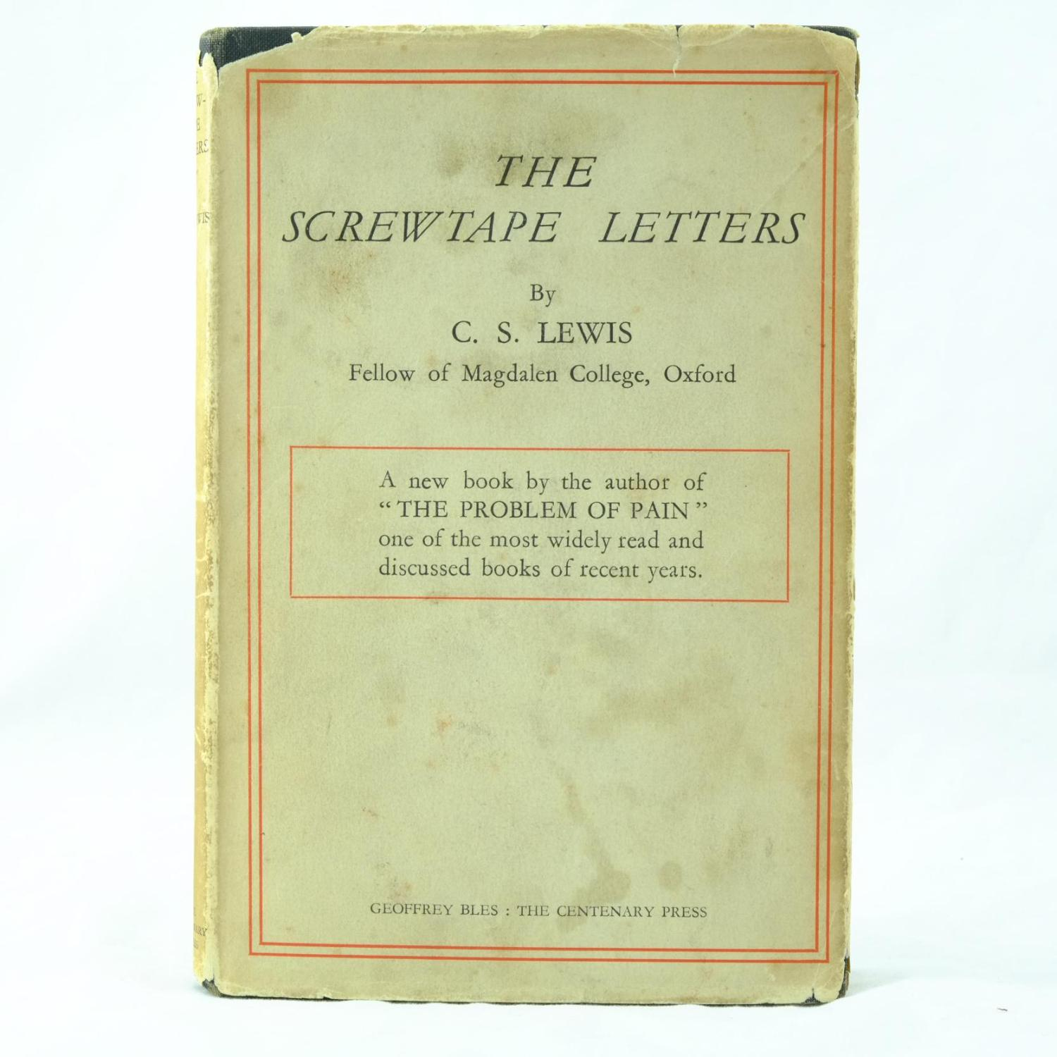 The Screwtape Letters by C S Lewis Geoffrey Bles London