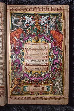 1616 Illuminated Folio of the Authorized (King