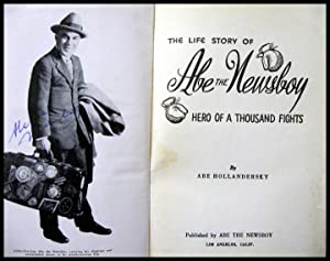 The Life Story of Abe the Newsboy: Hollandersky, Abe