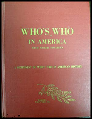 Who's Who In America with World Notables 70th Anniversary 1898 - 1968: Marquis, A N (Ed)