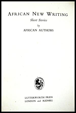 African New Writing: Short Stories by African: Adoki, G E