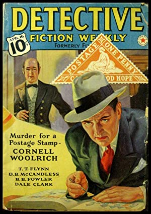 """Detective Fiction Weekly """"The Cape Triangular"""" April 16, 1938: Woolrich, Cornell]"""