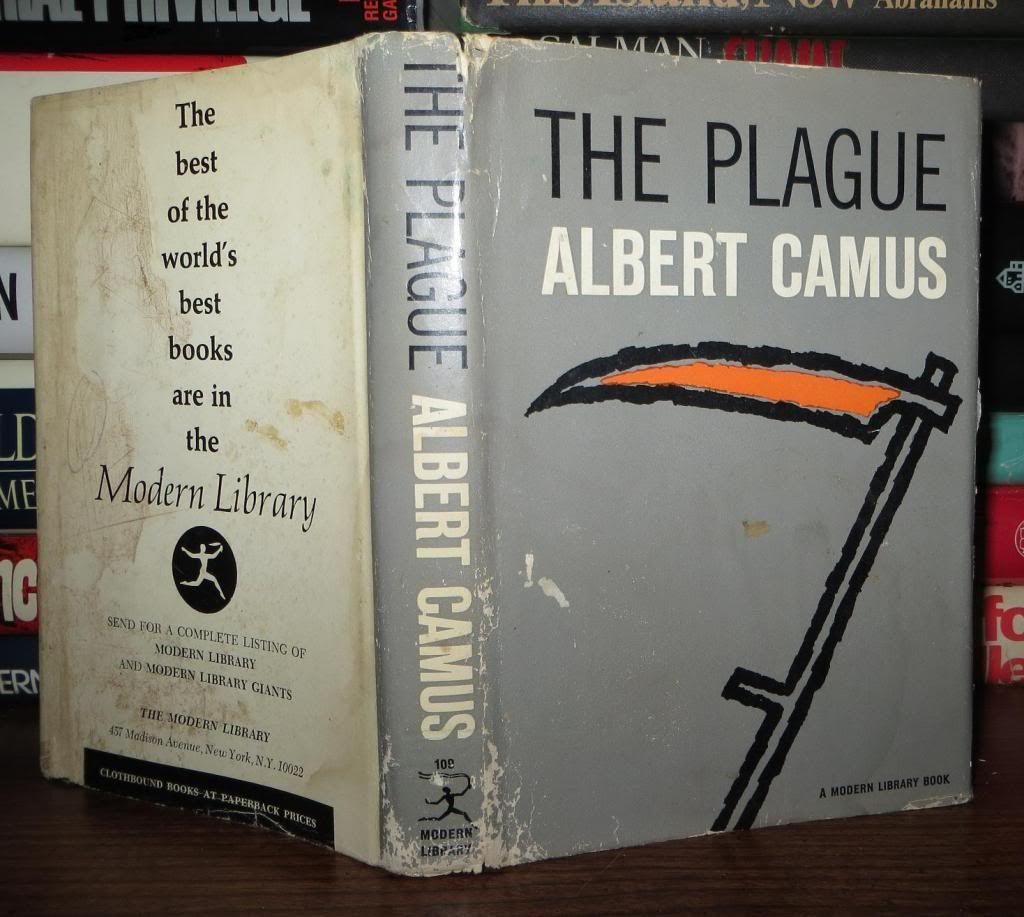 "a report on the novel the plague by albert camus Novel ""the plague"" in essence portrays in a large scale the human stages of grief, suffering and death and that by analysing the reactions of the people we are introduced to a myriad of experiencing joining together to each stage of grief bibliography: camus, albert the plague new york: modern library, 1948 print ross, elisabeth."