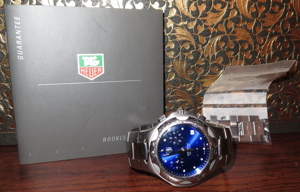 TAG HEUER KIRIUM MENS QUARTZ CHRONOGRAPH WATCH CL1112-0 BLUE FACE Tag Heuer Tag Heuer Quartz Professional Stainless Steel Men's Watch; Part Number: CL1112-0. Stainless steel with, includes booklet and two extensions. Personal
