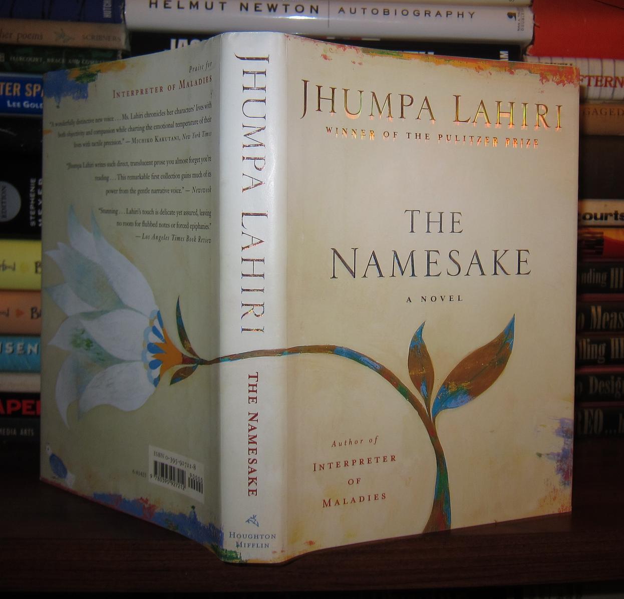 Image result for book cover of the namesake by jhumpa lahiri