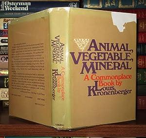 ANIMAL, VEGETABLE, MINERAL: Kronenberger, Louis