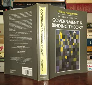 INTRODUCTION TO GOVERNMENT AND BINDING THEORY: Haegeman, Liliane