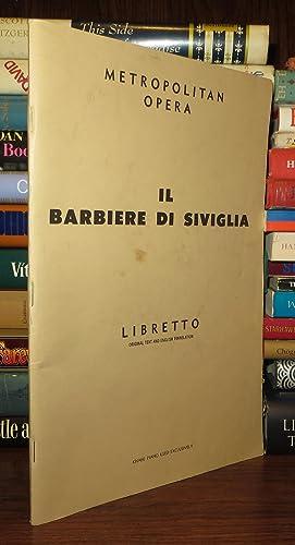 THE BARBER OF SEVILLE [IL BARBIERE DI: Rossini, Gioachino (Music)