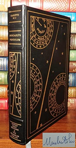 FOUCAULT'S PENDULUM Signed 1st Franklin Library: Eco, Umberto