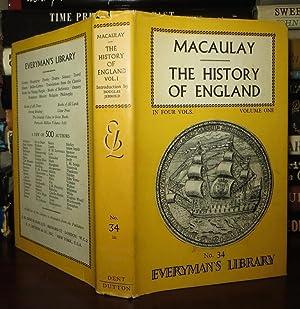 THE HISTORY OF ENGLAND Volume I: Macaulay, Catharine