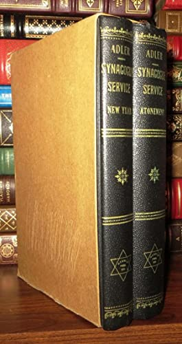 SYNAGOGUE SERVICE New Year & Atonement [2 Volume Set]: Davis, Arthur & Herbert M. Adler