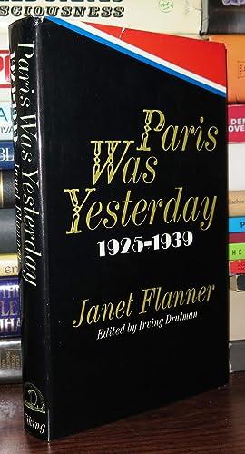 PARIS WAS YESTERDAY: Flanner, Janet