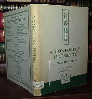 A CONFUCIAN NOTEBOOK: Herbert, Edward