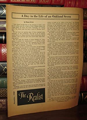 THE REALIST December 1968: a Day in: Krassner, Paul; Reese