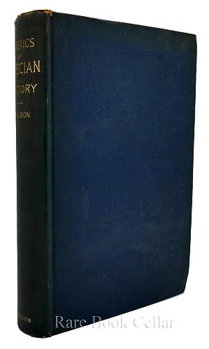 MOSAICS OF GRECIAN HISTORY THE HISTORICAL NARRATIVE: Marcus Willson and