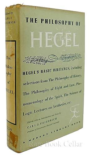 THE PHILOSOPHY OF HEGEL: Carl J Friedrich