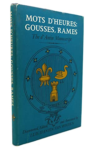 MOTS D'HEURES : Gousses, Rames the D'Antin: Luis D'Antin Van