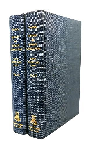 TEUFFEL'S HISTORY OF ROMAN LITERATURE, 2 VOLUME SET: Ludwig Schwabe