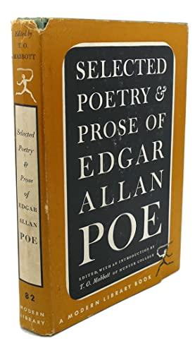 THE SELECTED POETRY AND PROSE OF EDGAR ALLEN POE: T. O. Mabbott