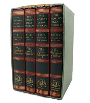 THE WORLD'S GREAT THINKERS, COMPLETE FOUR VOLUME: Saxe Commins, Robert