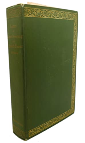 THE LETTERS OF ROBERT BROWNING AND ELIZABETH: Robert Browning, Elizabeth