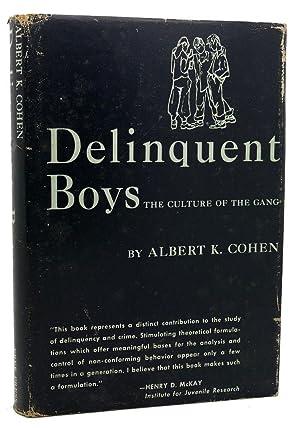 DELINQUENT BOYS The Culture of the Gang: Albert Kircidel Cohen
