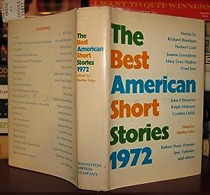 THE BEST AMERICAN SHORT STORIES 1972: Foley, Martha (ed) - Richard Brautigan