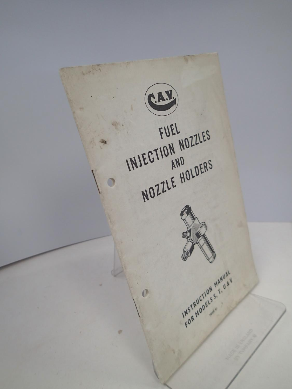Fuel injection nozzles and nozzle holders instruction manual for fuel injection nozzles and nozzle holders instruction manual for models s t u publicscrutiny Image collections
