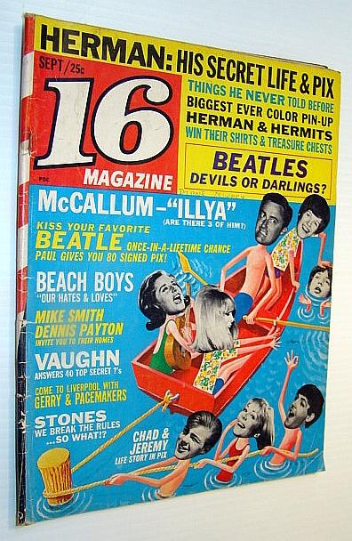 16 (Sixteen) Magazine, September 1965, Volume 7,: Stavers, Gloria: Editor