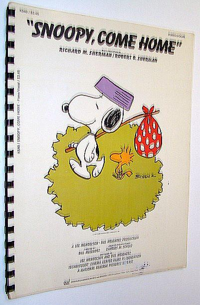 Snoopy Come Home Songbook With Sheet Music For Piano And Voice