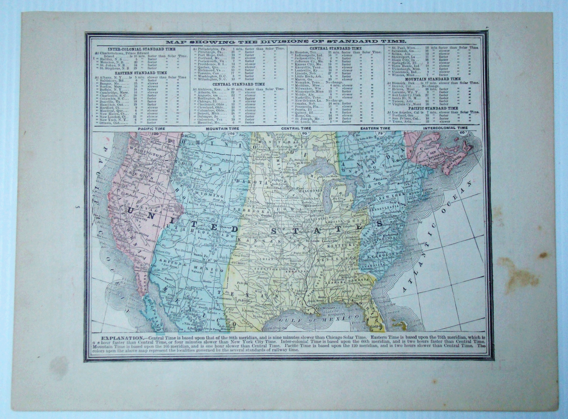 1889 Color Map of the Lower 48 States of the...
