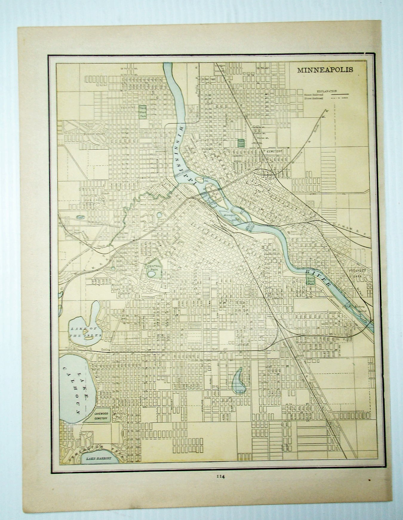 1889 Color Map of the City of Minneapolis, ...