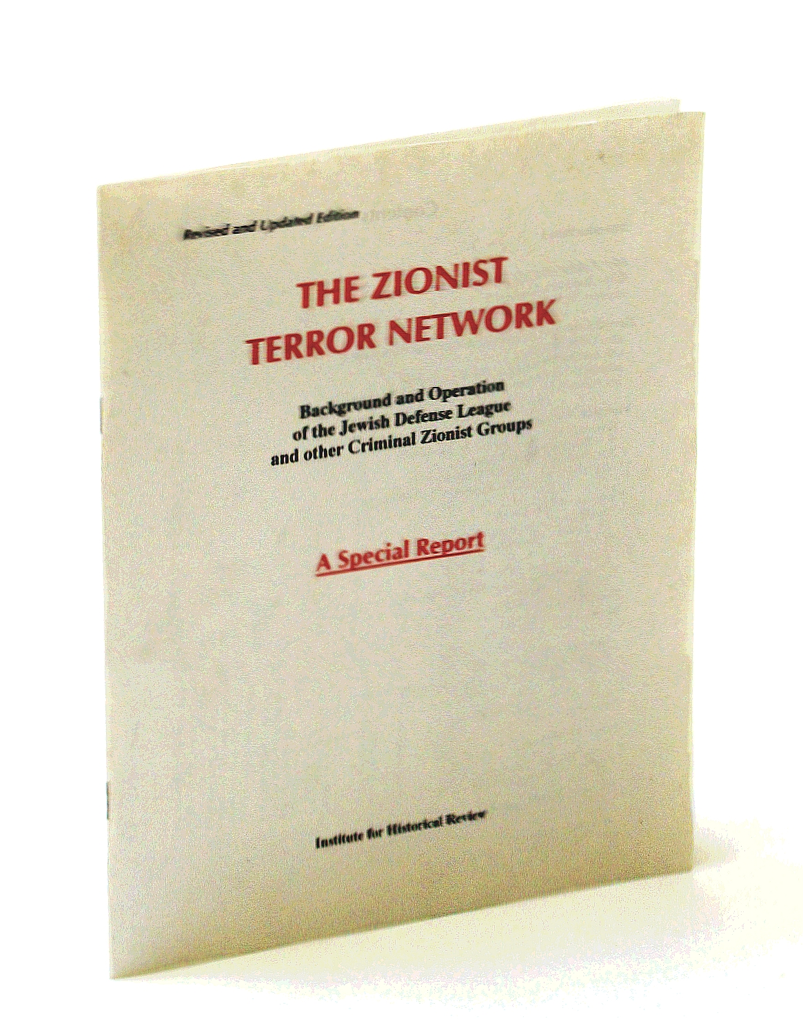The Zionist Terror Network, Background and Operation: MARK WEBER, THE
