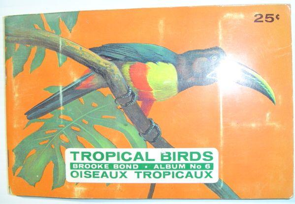 Tropical Birds: Brooke Bond Album No. 6 Unstated, Author Good Softcover Circa 1963. All cards mounted. Average wear. Sound copy. Unmarked.